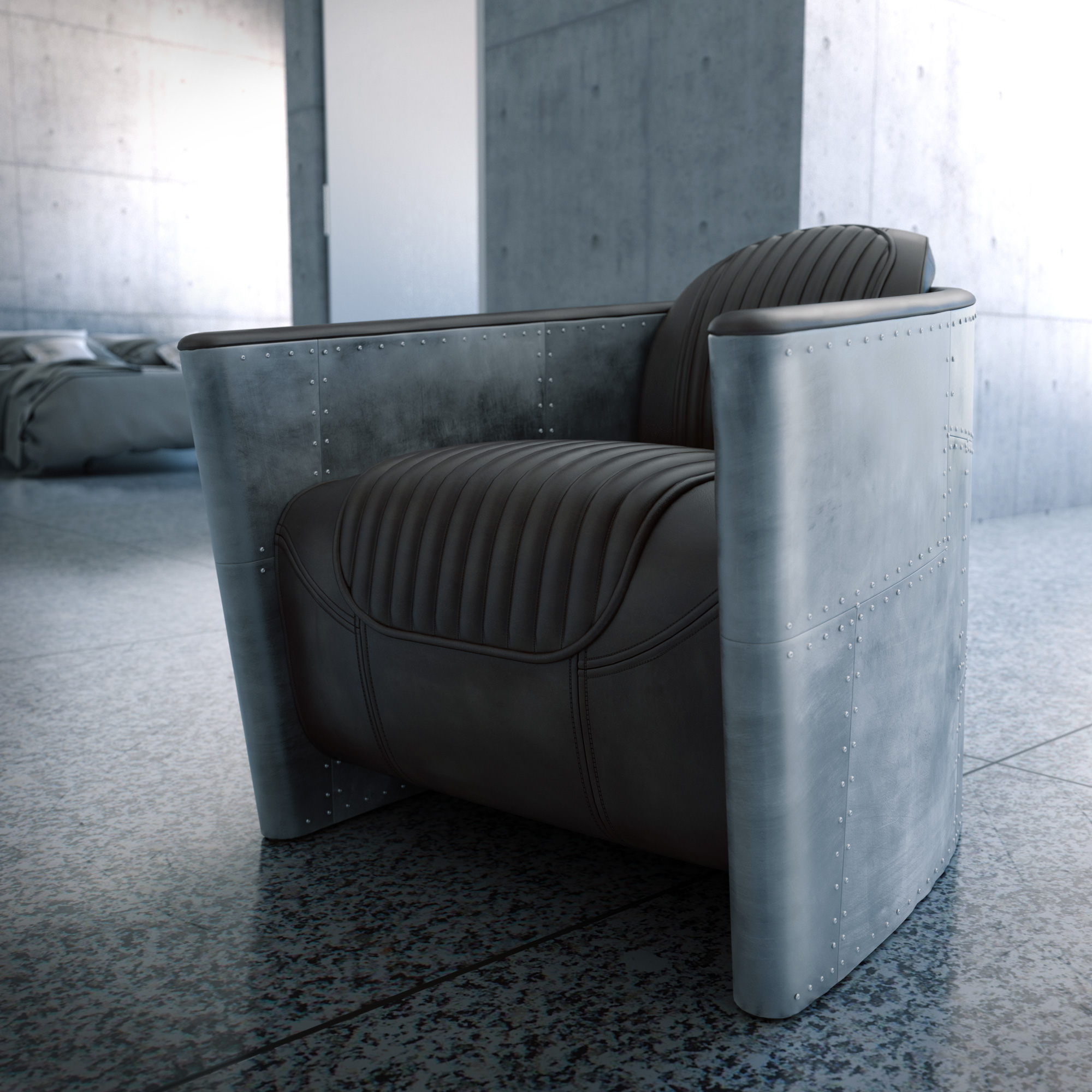 CGI, product design Visualisation, Aviator Chair