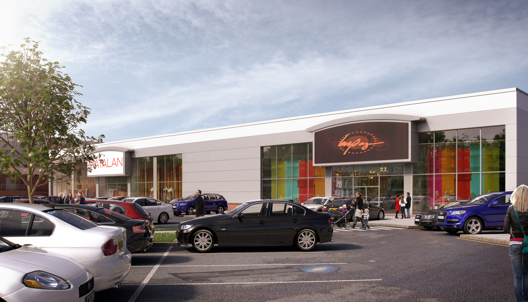 Architectural Visualisation, CGI, Thanet Retail Park