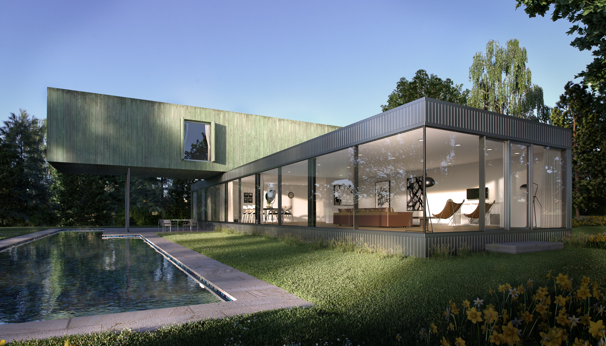 Architectural Visualisation, CGI, Pool House