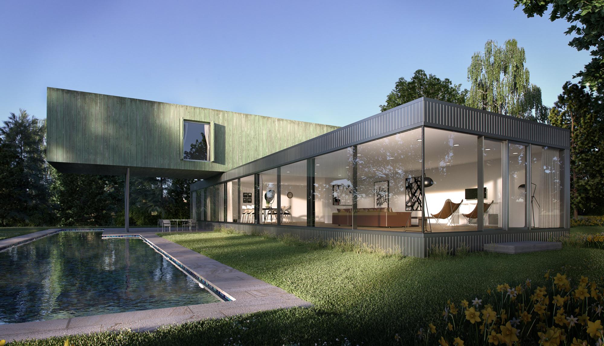 Architectural Visualisation, CGI, Pool House