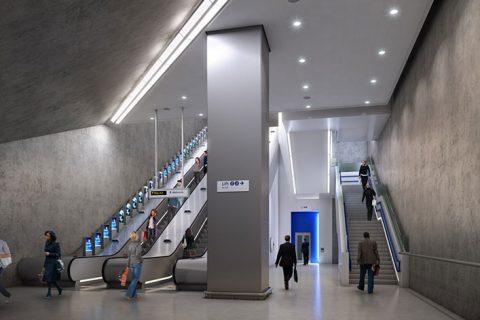 Walbrook Underground Station, London