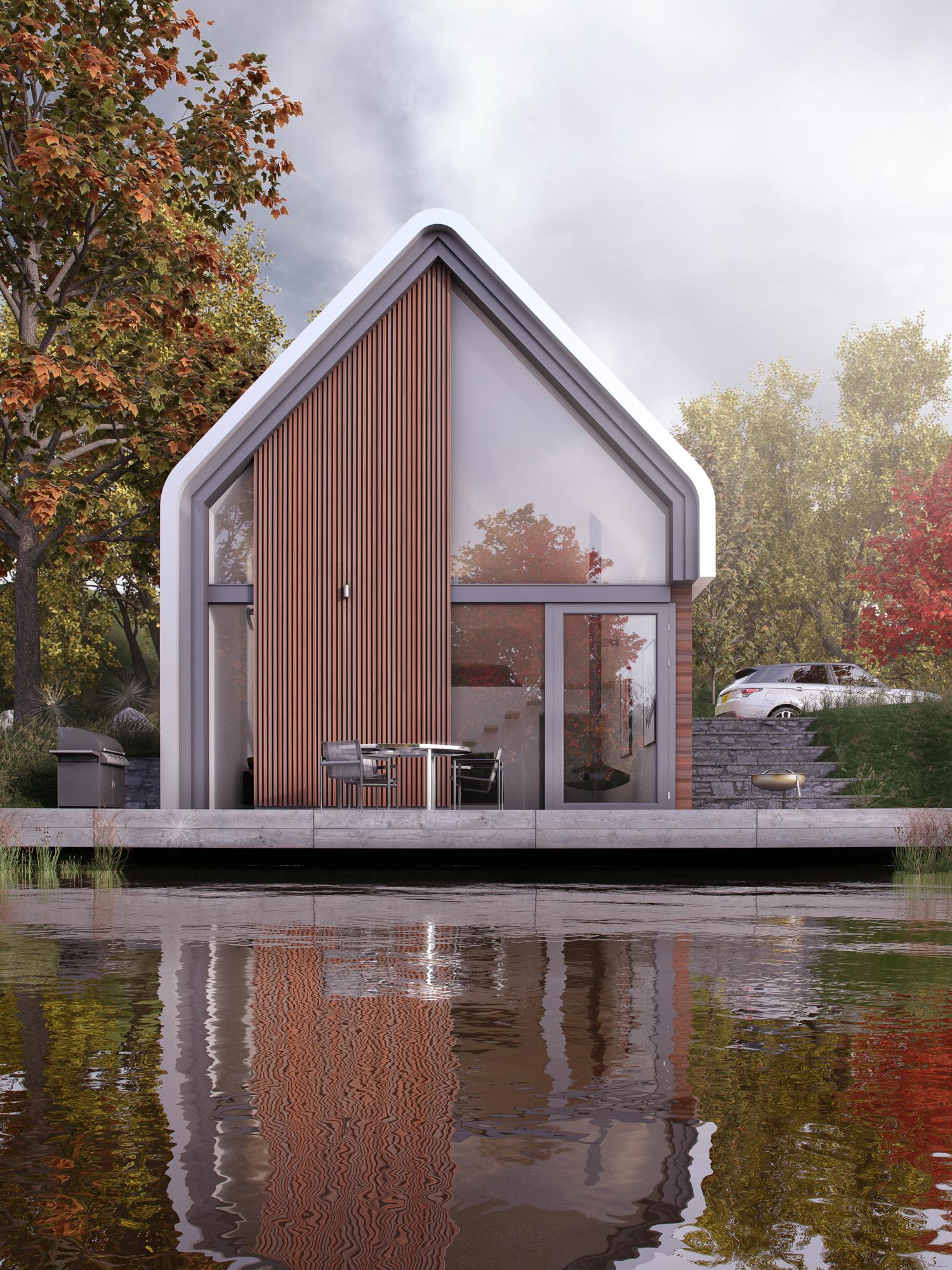 Lake house, Dusk, Night, Architectural Visualisation, CGI